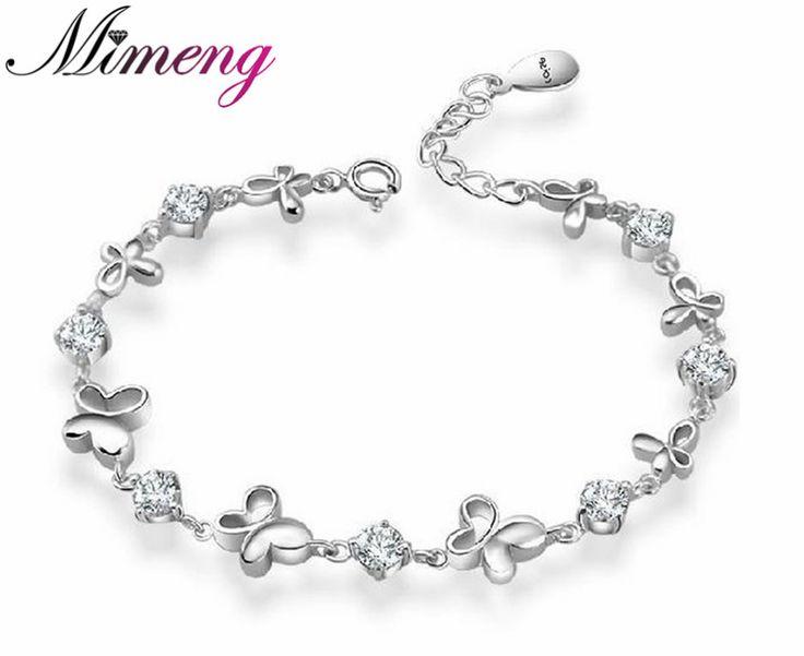 AAA 100% Sterling Silver 925 Jewelry Butterfly Bracelet Amethyst Bracelet Fine Jewelry Top Quality!! Free Shipping www.bernysjewels.com #bernysjewels #jewels #jewelry #nice #bags