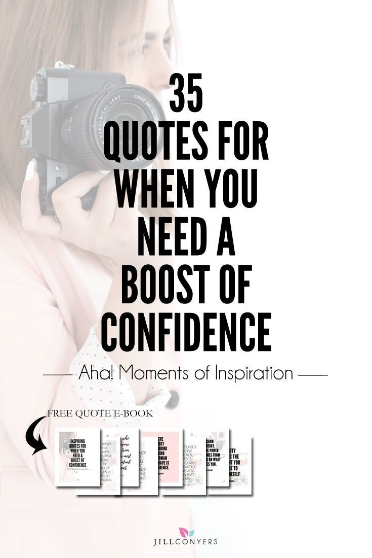We all have those days when we need support and reminders of our potential for success. We need something or someone to help silence the negative self-talk and stop the loop of negative thoughts we're playing in our head, influencing our actions and undermining our potential. 35 quotes to improve your self-confidence and remind you how much you have to offer the world. Click through to download the FREE Quote E-Book. Print the e-book and keep it where you will see it often.
