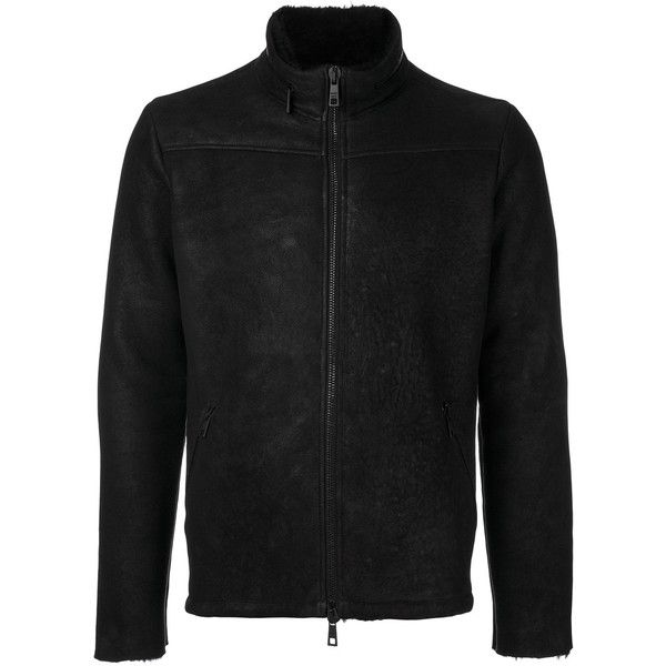 Giorgio Brato zip up jacket (2,460 CAD) ❤ liked on Polyvore featuring men's fashion, men's clothing, men's outerwear, men's jackets, black and mens zip up jackets