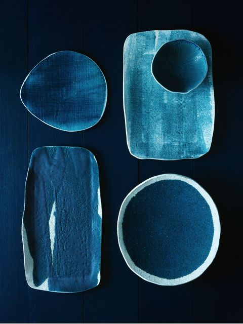 Michele Michael; Glazed Ceramic Dishes for Elephant Ceramics, 2011.