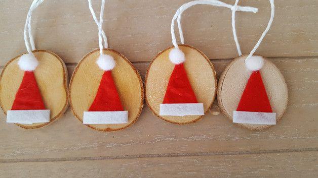 Weihnachtsdeko - Landhaus Weihnachtsschmuck Weihnachtsmannmütze - ein Designerstück von schnuppelmaus bei DaWanda