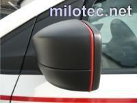 Design lišta zpětných zrcátek - červená, Octavia II. Facelift / Superb II. / Octavia III. / Rapid / Citigo / Yeti / Fabia III. / Superb III.