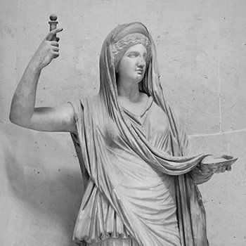 "Roman men have a Genius guardian of masculinity, and Juno is here to represent the femininity! Juno is a huge symbol of feminism in cultures around the world. Juno rules over a vast variety of feminine values from arranging marriages and assisting mothers in labor to settling arguments within marriages with her Viriplaca Aspect.  Image From: Ardinger, Barbara. ""June-a Month Ruled by Feminine Principles."" Feminismandreligion.com. N.p., 22 May 2013. Web. 22 Apr. 2017."