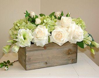 square planters for wedding arrangements babys breath | floral arrangement table top spring centerpieces wood box wood boxes ...