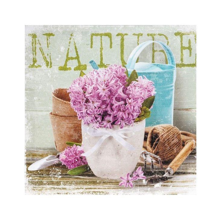 Piękny obrazek marki Belldeco, na którym znajduje się bukiet hiacyntów o intensywnym kolorze fioletu, w białej doniczce. Urokliwa Prowansja może znaleźć się w  każdym pomieszczeniu.