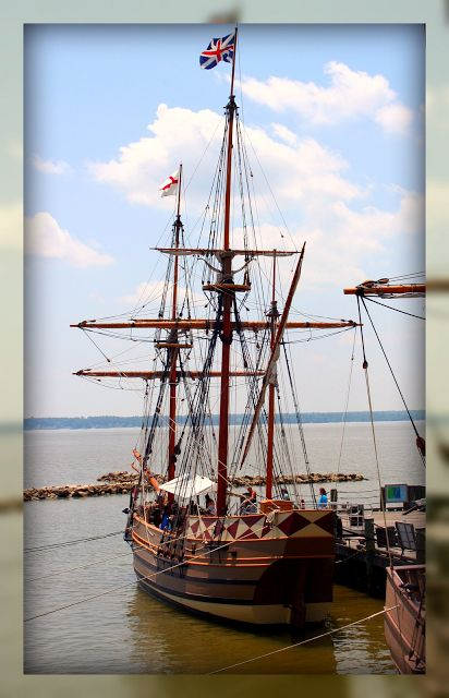 These are Jamestown Ships. This is a living history museum in Williamsburg, VA, and it is amazing!