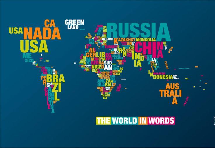 Worldmap in words  http://www.typomaps.net/