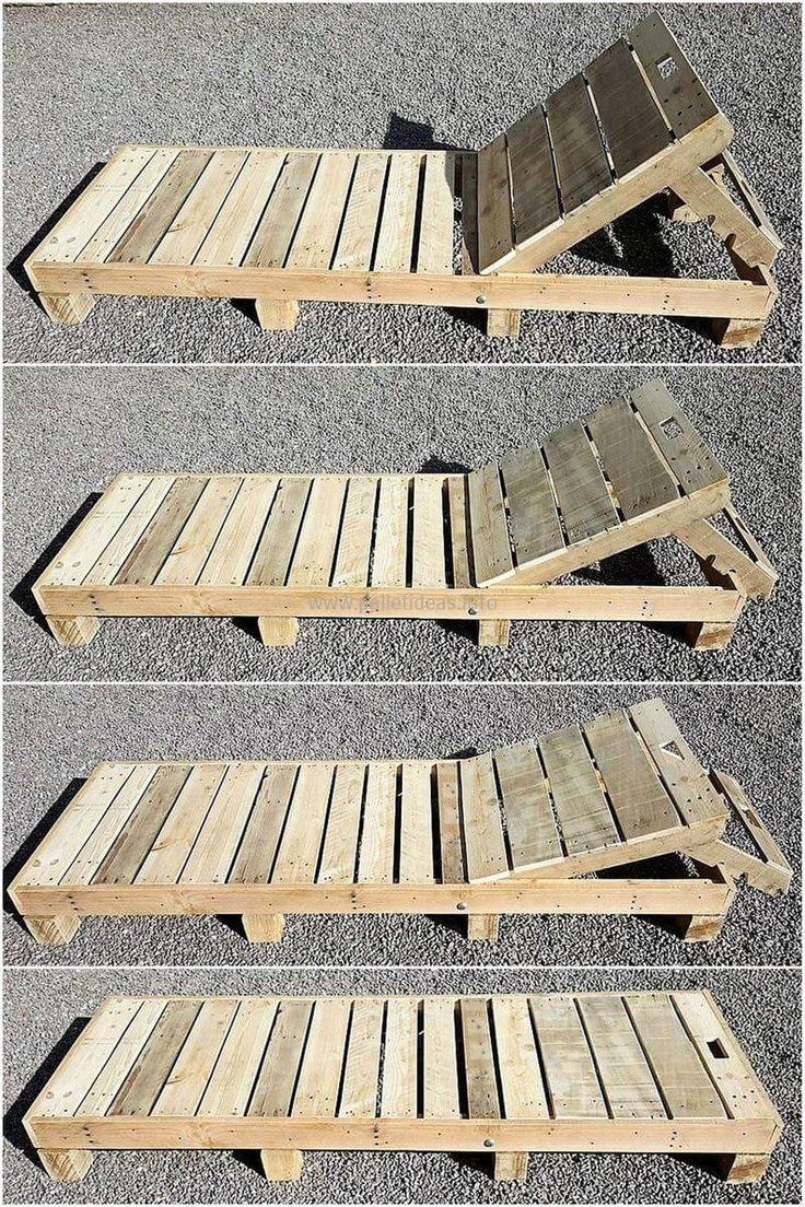 Diese Holzpaletten-Sonnenliege ist ein einfaches a…