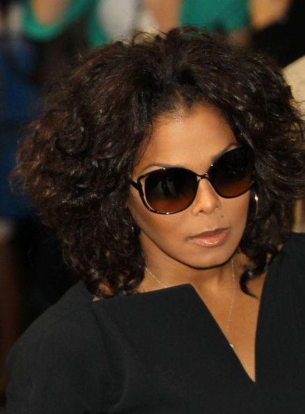 Janet Jackson layered bob