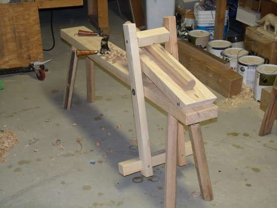 Shaving Horse Plans In 2019 Woodworking Workbench Wood