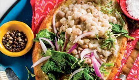 Feta and rosemary umngqusho (samp and beans) #BudgetFriendly #Mains #Recipe