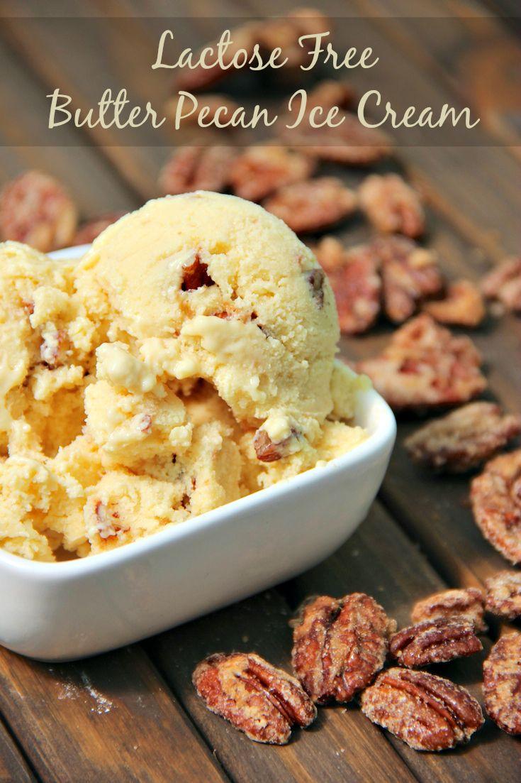 Lactose Free Butter Pecan Ice Cream Recipe #BeyondLi