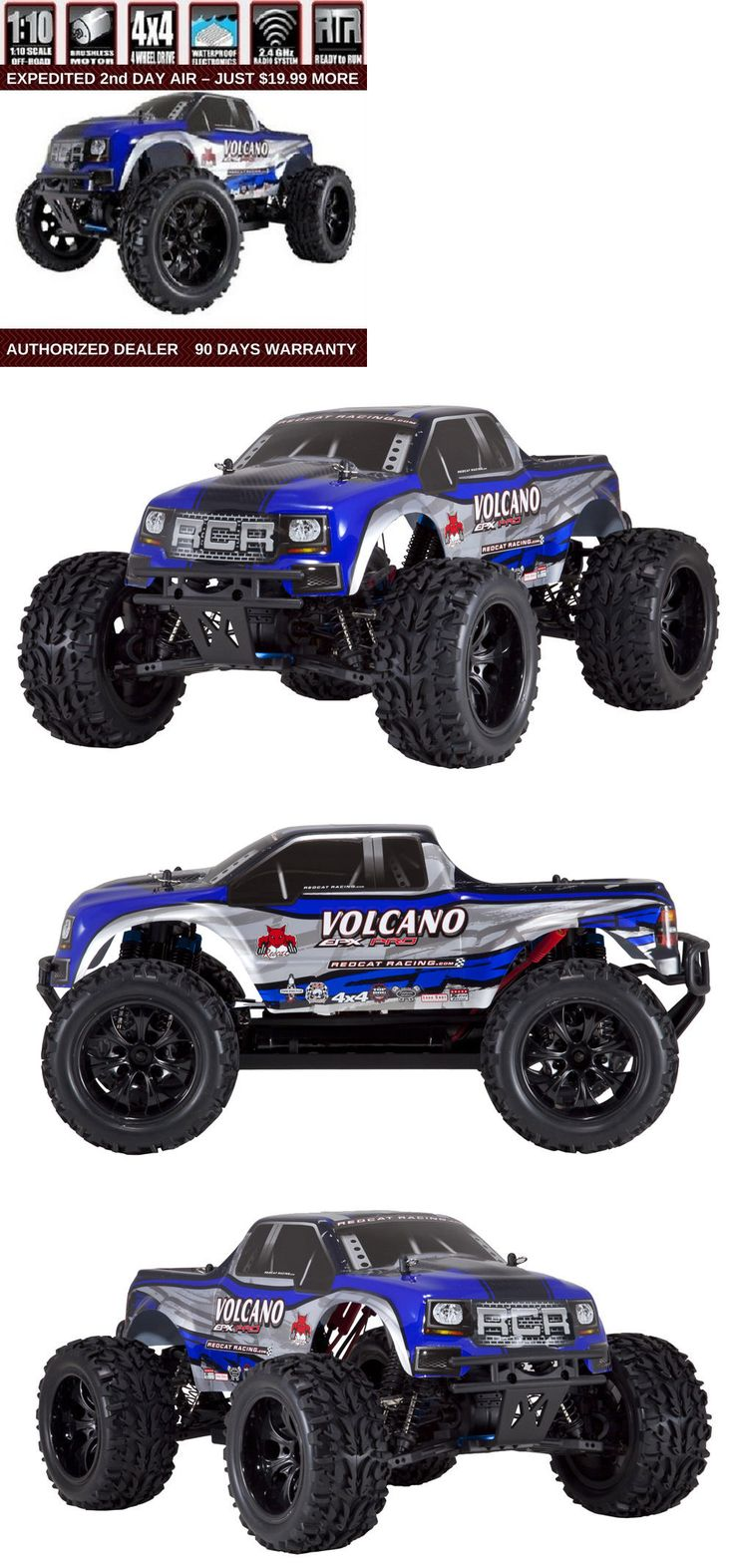 Cars trucks and motorcycles 182183 redcat racing volcano epx pro 1 10 scale electric brushless