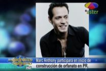 Marc Anthony Participará En Inicio De Construcción De Orfanato En PR #Video