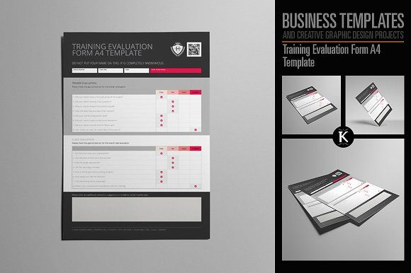 Training Evaluation Form A Template By Keboto On Creativemarket