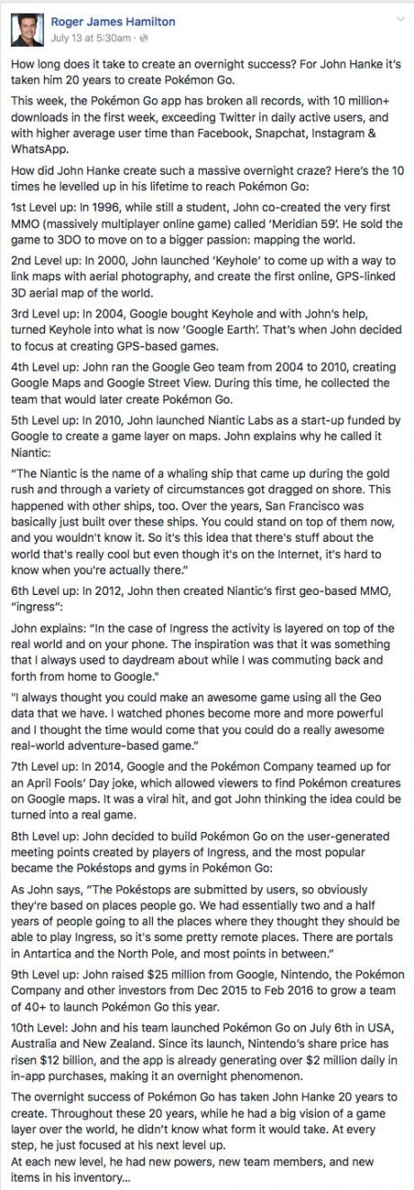 Overnight success takes 20 years: The story of Pokemon GO