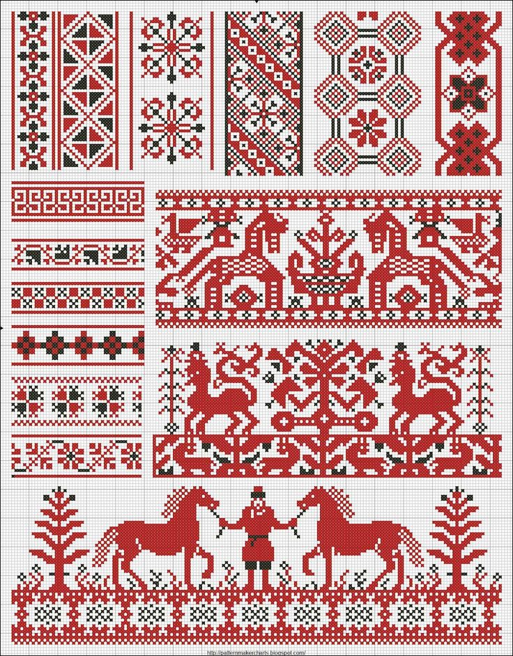 Collected old russian patterns for embroidery
