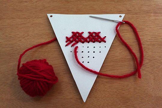 Como fazer: Bandeirinhas decorativas com bordado – Blog do Tanlup