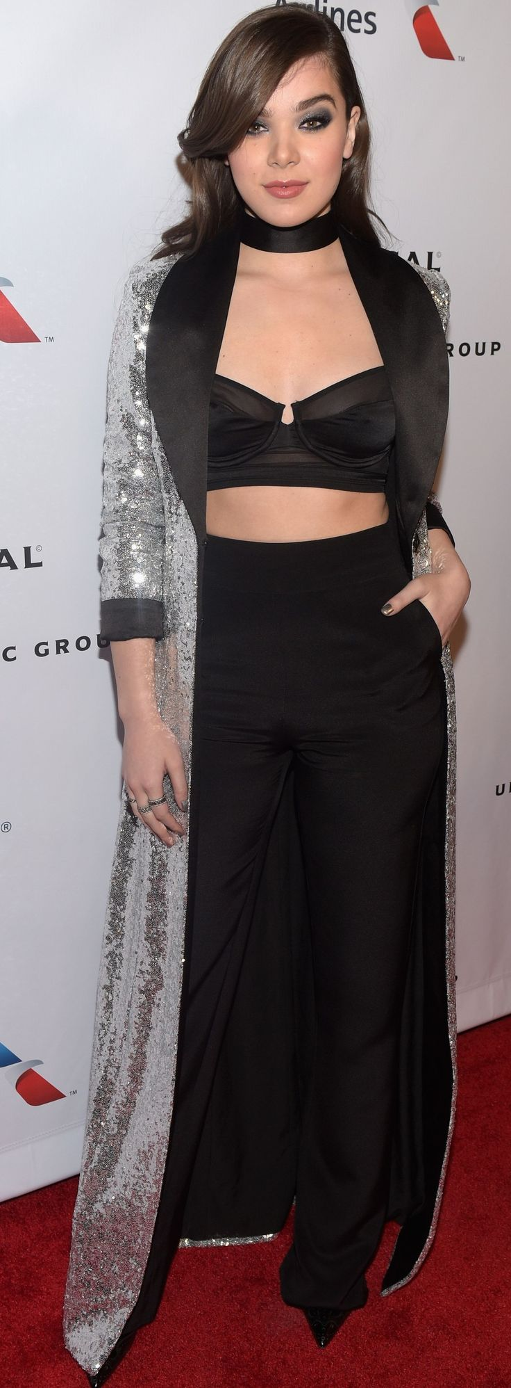 Actress and singer Hailee Steinfeld wearing CRISTALLINI on the red carpet at the 2016 Grammy Awards! #cristallini #haileesteinfeld #grammys #redcarpetstyle #custommade #celebritystyle #sequins