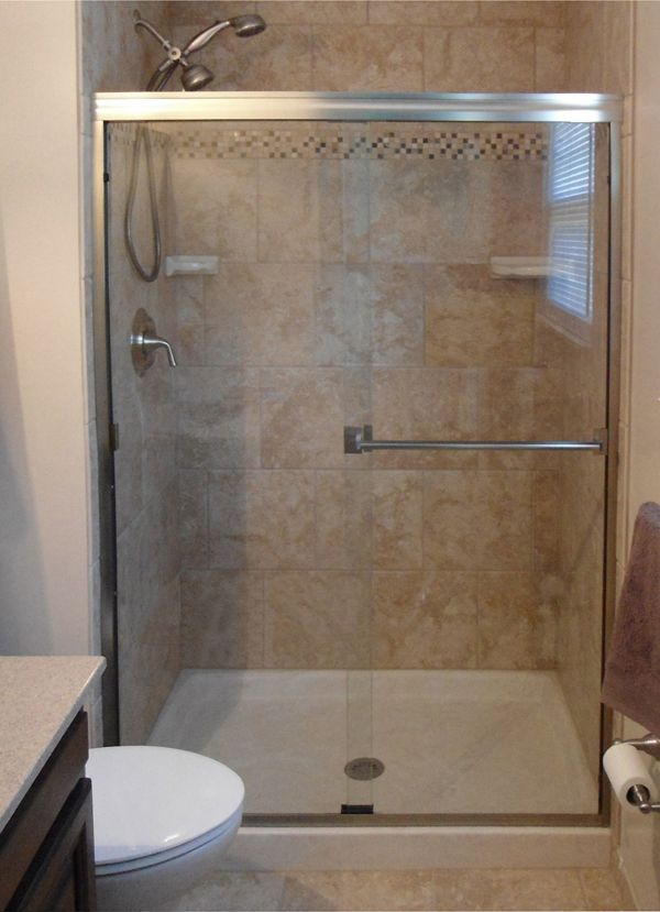 Basco Classic 60 in. Semi-Frameless Sliding Shower Door in Silver with Clear - The Home Depot & 98 best Shower Doors u0026 Enclosures by Basco images on Pinterest ... pezcame.com