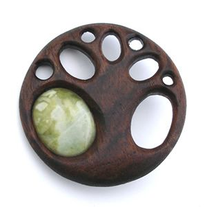 Hand carved wooden brooches - contemporary designs, animal designs, Celtic knotwork, Charles Rennie Mackintosh jewellery
