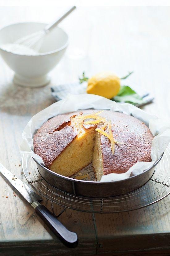 Gâteau au citron et citron confit