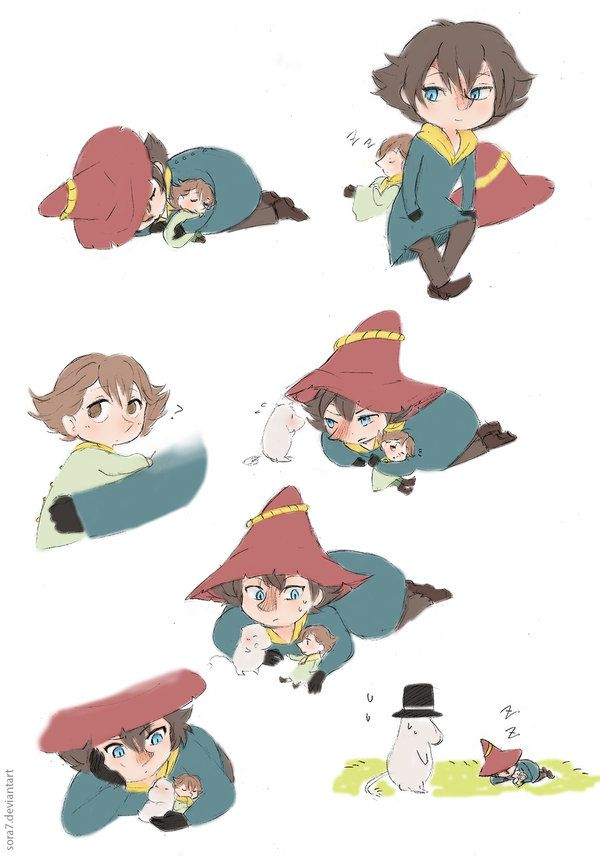 Joxter and lil Snufkin by ~sora7 on deviantART