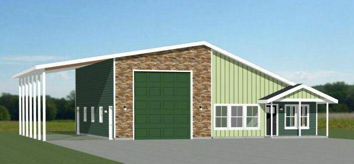 2 Bedroom 2 Bath 1 RV Model 2A 1,157 sqft PDF Floor Plan 46x48 House