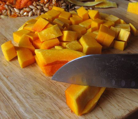 Butternut squash is packed with fiber and nutrients including 300% your daily value of vitamin !. Here's a quick photo tutorial on how to peel and seed the squash