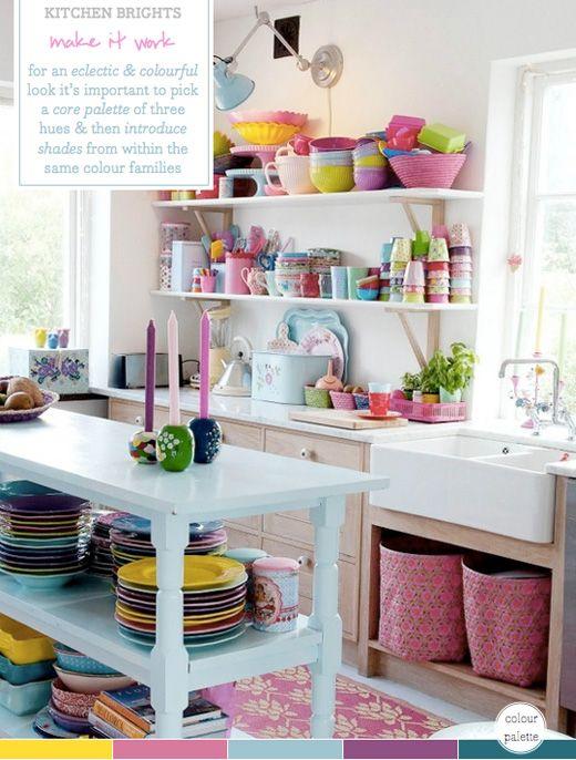 colour palette multi coloured kitchen brights - Multi Kitchen Ideas