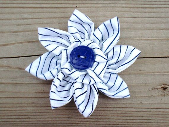 Handmade Flower with Vintage Girl Guide Button