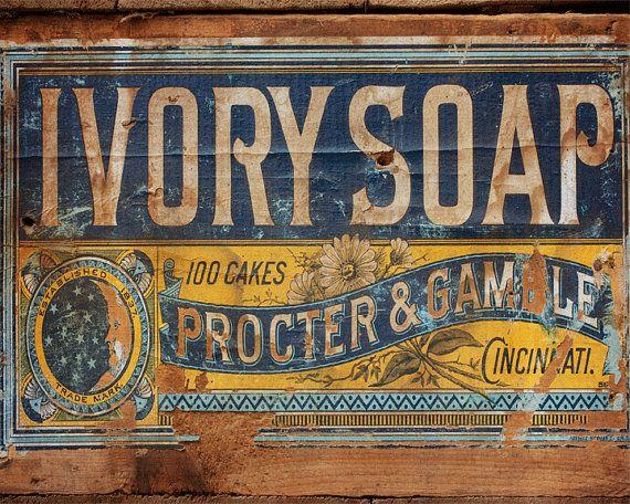 Ivory Soap Vintage Crate Photograph Bathroom Decor Laundry Room Decor Vintage Antique Rustic Home Decor Wall