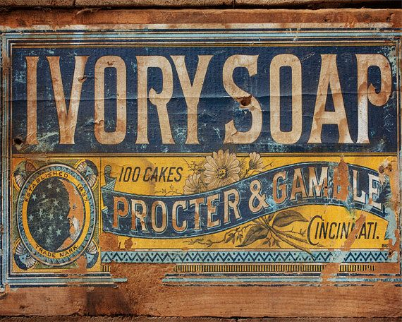 Title: Ivory Soap Wooden Crate Label    Fine Art Photography    This photograph is of a vintage wooden crate that I recently purchased. It was an