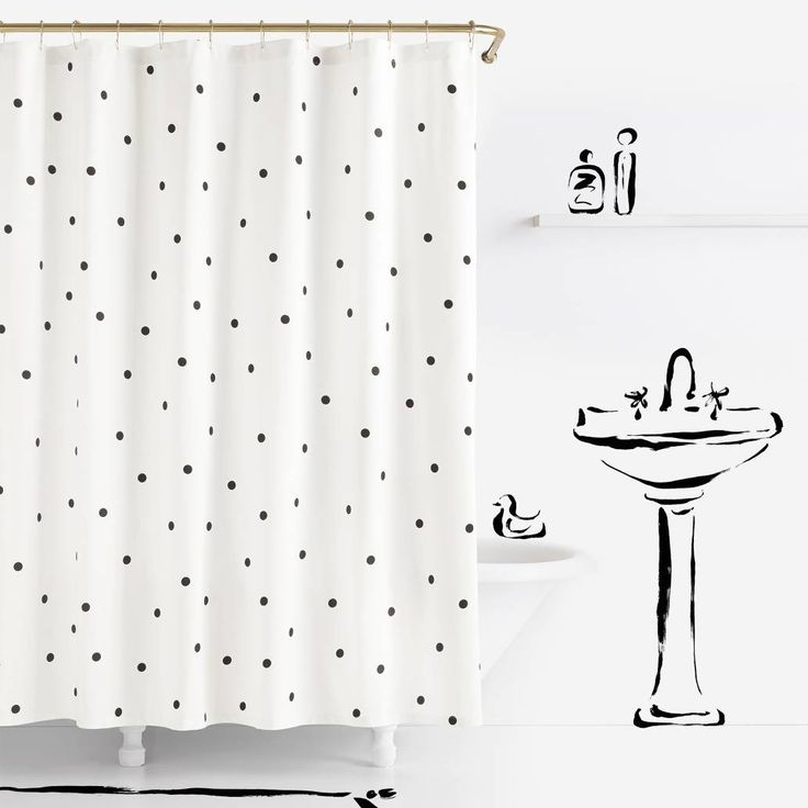 Product Image for kate spade new york Deco Dot Shower Curtain 1 out of 2