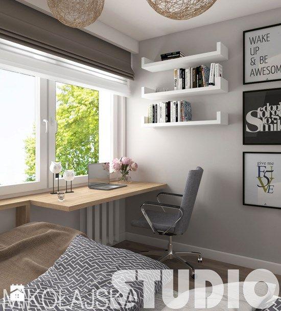 nowoczesna sypialnia w bloku - zdjęcie od MIKOŁAJSKAstudio
