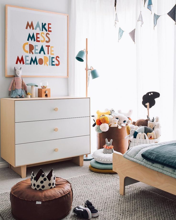 Love the print. Maybe something in canvas with felt letters for the play area in the extension.