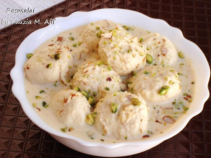 Rasmalai | Fauzia's Kitchen Fun