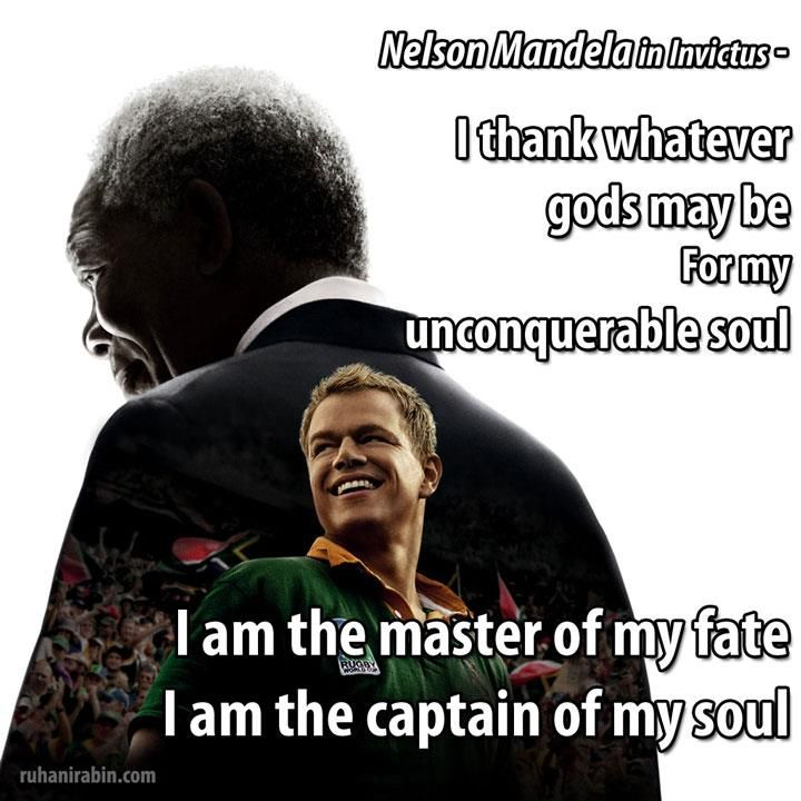 All About Nelson Mandela Quotes I Am The Captain Of My Soul The