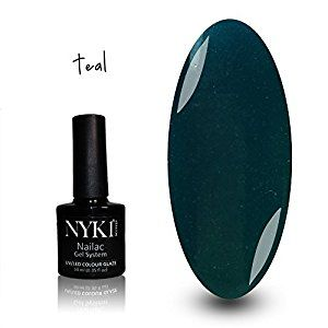 NYK1 NAILAC - TEAL - Professional Shellac Gel Nail Polish - UV & LED Drying - Quick Soak Off Gel Polish 10ml - Over 100 Shellac Colours to Choose From!: Amazon.co.uk: Beauty
