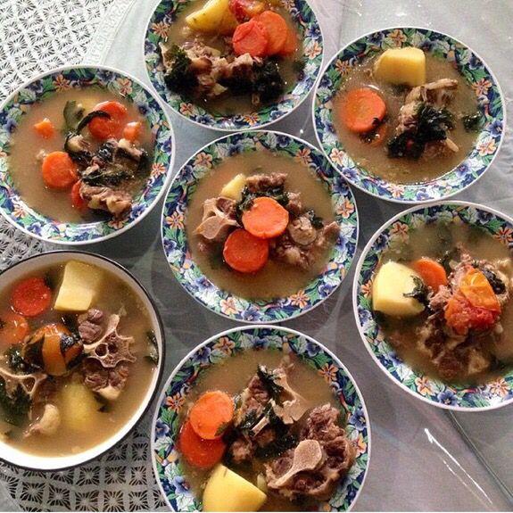 Wholesome beef soup @sopbuntutibunadi. Happiness is homemade ❤️
