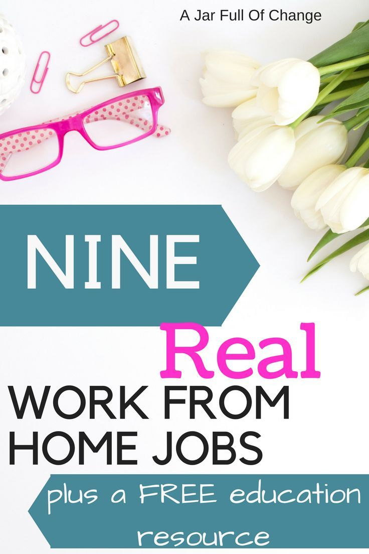 Real Jobs You Can Do From Home