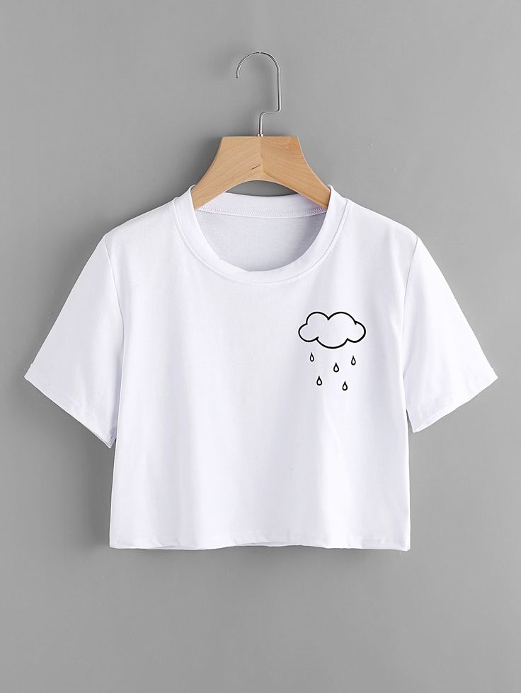 Shop Cloud Print Tee online. SheIn offers Cloud Print Tee & more to fit your fashionable needs.