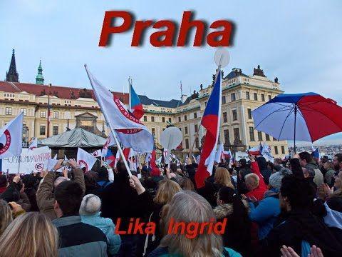 Protesty v Praze proti islamu 06 02 2016