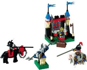 LEGO Knight's Kingdom: Royal Joust (6095) by LEGO. $89.99. Amazon.com                A chest full of treasure, as well as the admiration of King Leo  himself, awaits the victor of the Castle Royal Joust from LEGO. Part of  the Knight's Kingdom series, this 99-piece LEGO set comes complete with  two LEGO knight figures that can be mounted on two separate horse  figures, along with all the weapons and accessories necessary for a  LEGO-style, medieval joust. The set ...