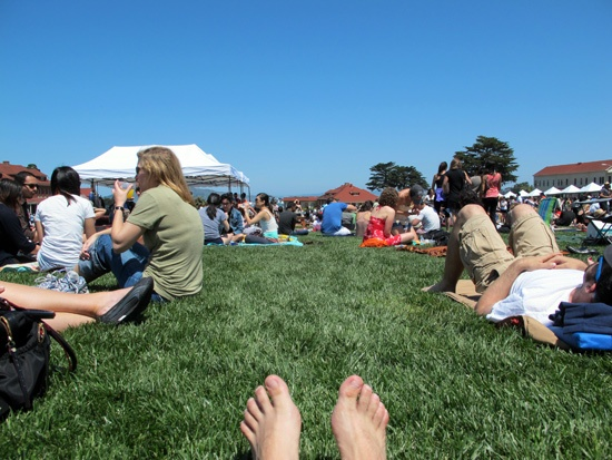 Off the Grid's Picnic at the Presidio: Like a Day in Dolores, But Better Food, Drinks, and Grass via SFWeekly