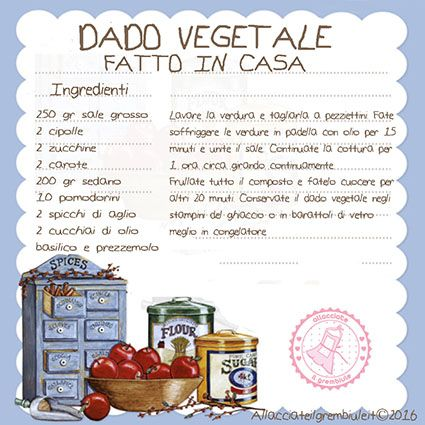 DADO VEGETALE FATTO IN CASA