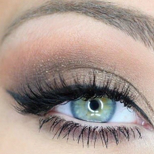 Perfect Wedding Eye Makeup : Love the eyeliner and the eye color is ooh la la http ...