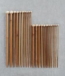 Bamboo Knitting Needles manufactured by a small firm in Japan who have been making fine bamboo products for more than 80 years. The needles are resin treated and cured to harden them and to prevent warping, splitting and damage from insects. via Purl Soho
