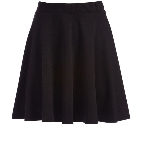 ABSOLUTE ANGEL Black Circle Skirt ($13) ❤ liked on Polyvore featuring skirts, long circle skirt, flared skirts, stretch skirt, circle skirts and long stretchy skirts