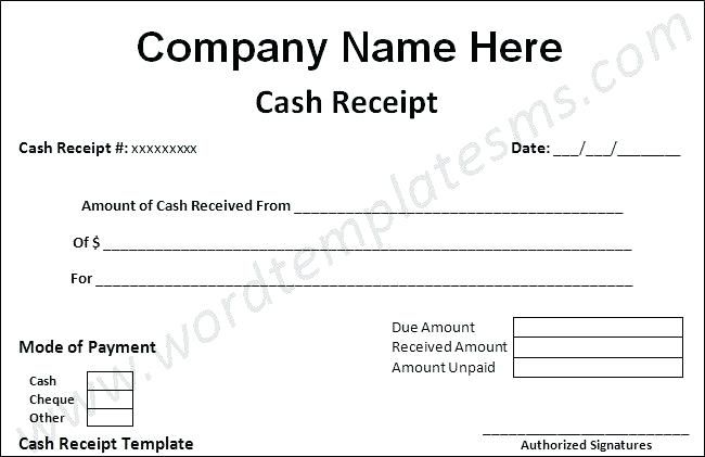 Cheque Receipt Template Saleem Imam Bin_Imam On Pinterest